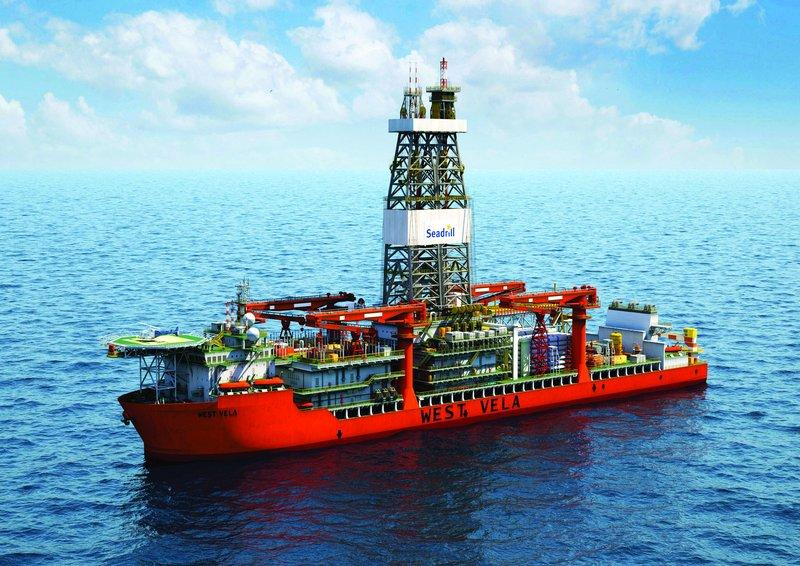 drillship offshore animation