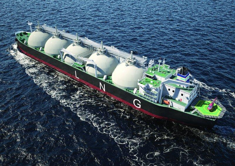 LNG offshore animation